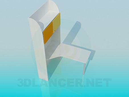 descarga gratuita de 3D modelado modelo Escritorio con estantes