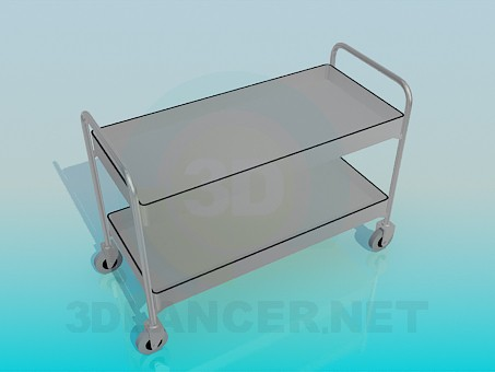 3d model Medical cart - preview