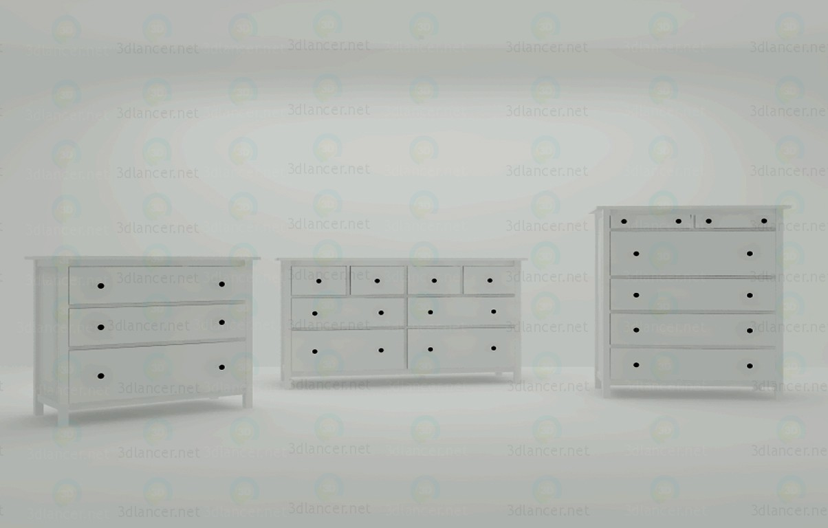 3d modeling Сhest of drawers model free download