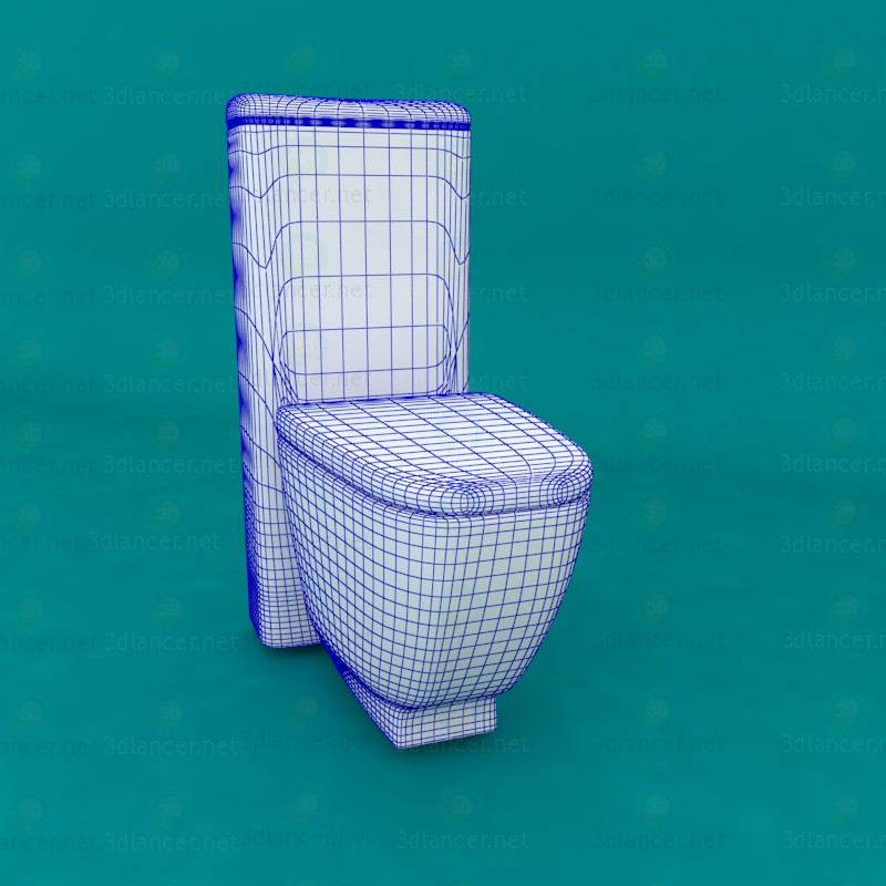 3d Toilet BTW 74 Sanitana Tocai model buy - render