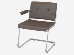 Leather chair with armrests RH-305-102