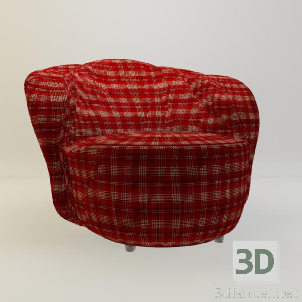 3 डी कुर्सी रहने वाले कमरे के लिए मॉडल खरीद - रेंडर