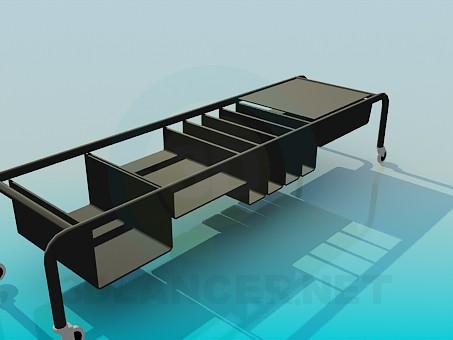 modelo 3D Mesa móvil para los libros - escuchar