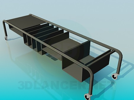 3d model Movable table for the books - preview