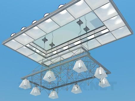 3d моделирование Подвесной светильник модель скачать бесплатно