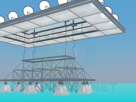 3d модель Подвесной светильник – превью