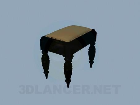 descarga gratuita de 3D modelado modelo Otomano con patas talladas