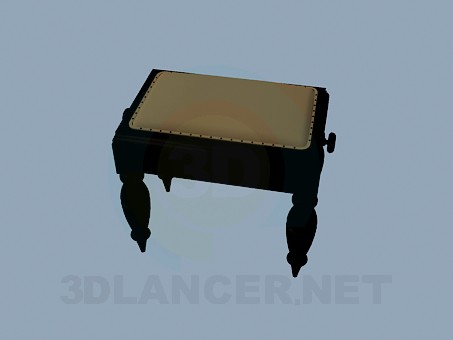 3d model Ottoman with carved legs - preview