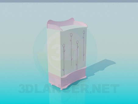 3d model Locker for baby things - preview