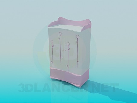 3d модель Шкафчик для детских вещей – превью