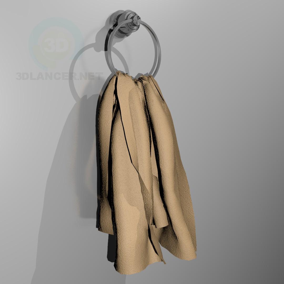 3d модель Рушник з тримачем – превью