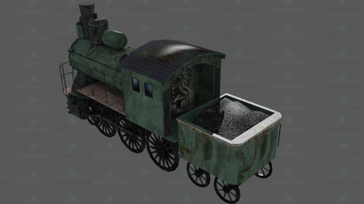 3d Locomotive model buy - render
