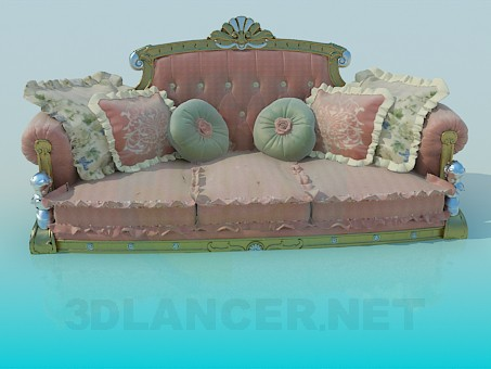 3d modeling Royal Sofa model free download