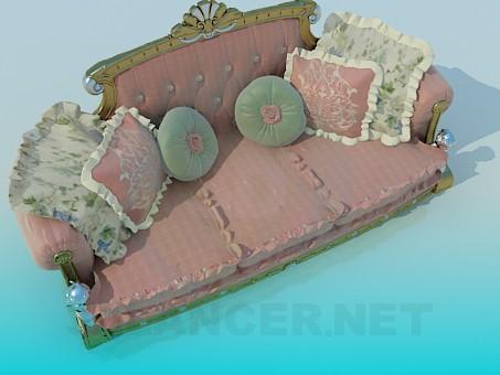 3d модель Королевская софа – превью