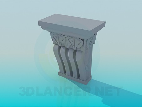 modelo 3D Elemento decorativo - escuchar