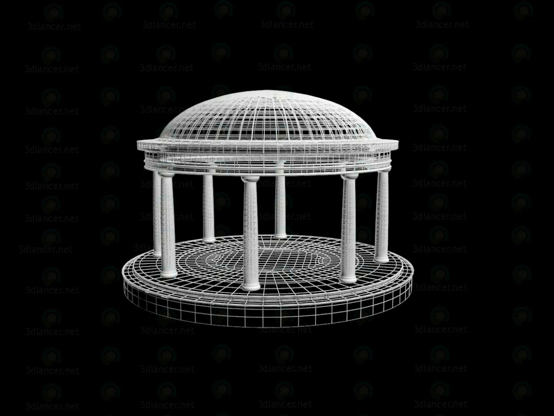 modelo 3D casa del jardín - escuchar