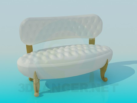 3d model Retro sofa - preview