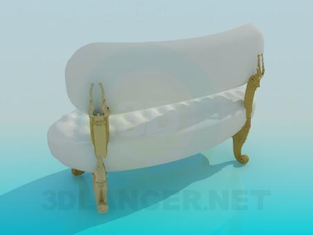 3d model Retro sofa - preview
