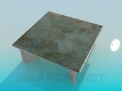 Coffee table with marble surface