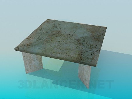3d model Coffee table with marble surface - preview