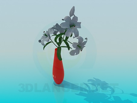 3d model Lilies in a vase - preview