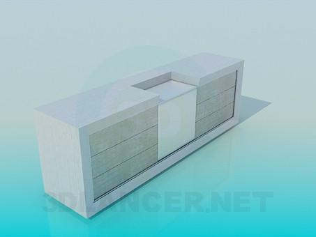 descarga gratuita de 3D modelado modelo Armario para TV