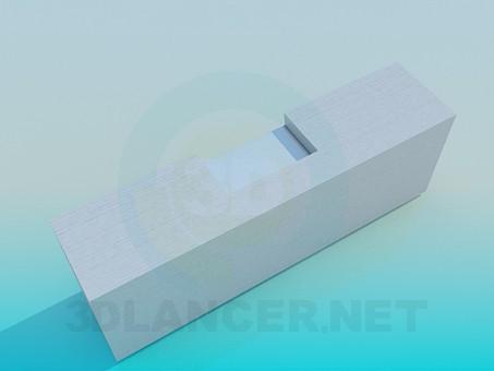 3d модель Тумба под ТВ – превью