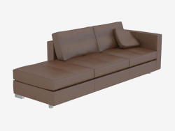 Sofa modern leather Triple