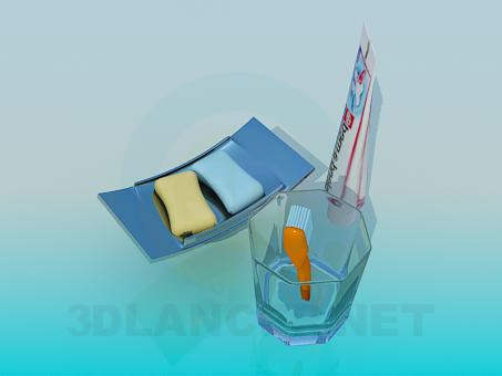 3d model Bathroom accessories - preview