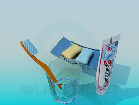 3d модель Ванные принадлежности – превью