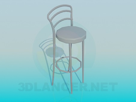 3d модель Барний стільчик – превью