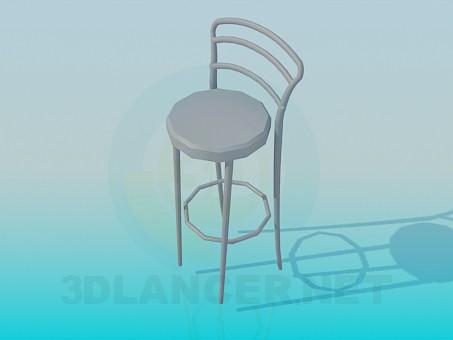 3d модель Барный стульчик – превью