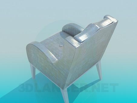 modelo 3D Silla con las piernas - escuchar