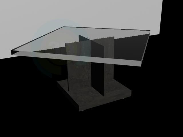 modelo 3D Mesa de centro con tapa de cristal - escuchar