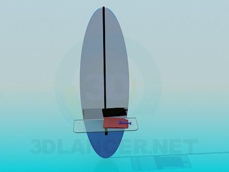 3d моделирование Зеркало со стеклянной полочкой модель скачать бесплатно