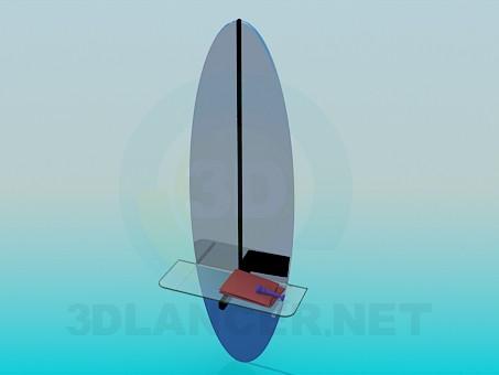3d модель Зеркало со стеклянной полочкой – превью
