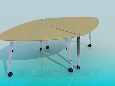 3d model Tables with wheels-two in one - preview