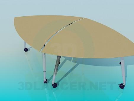 3d модель Столы на колесиках - два в одном – превью