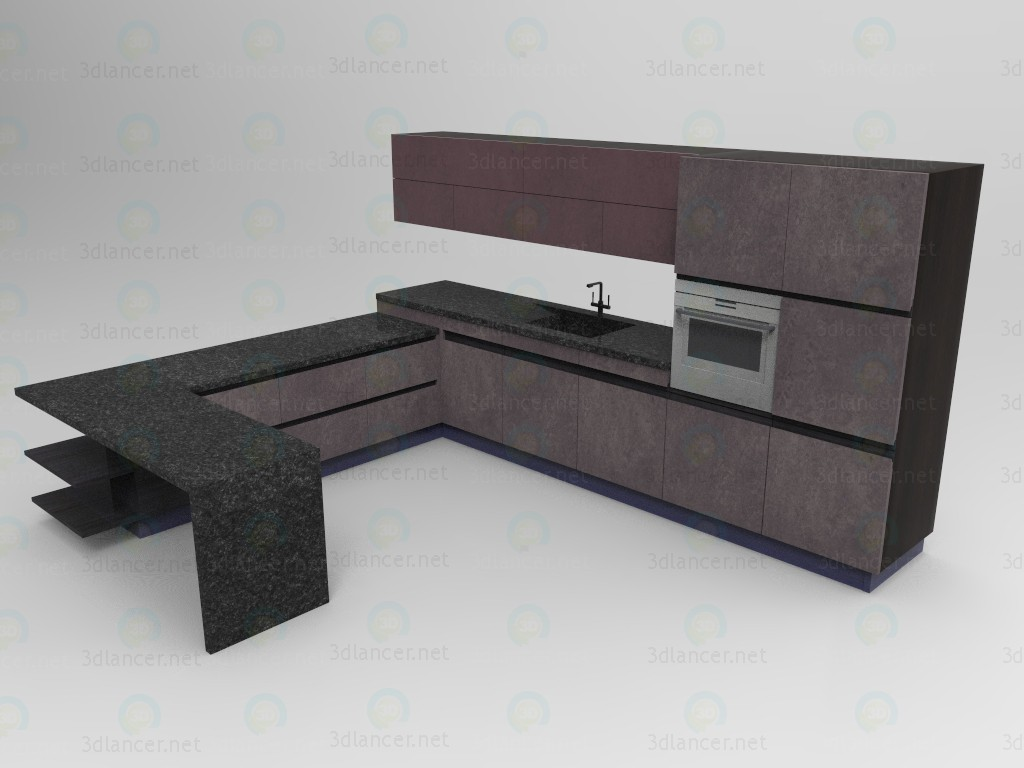 "3d Kitchen Kit from ""Union"" model buy - render"
