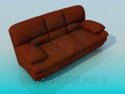 Sofa Leather High Poly