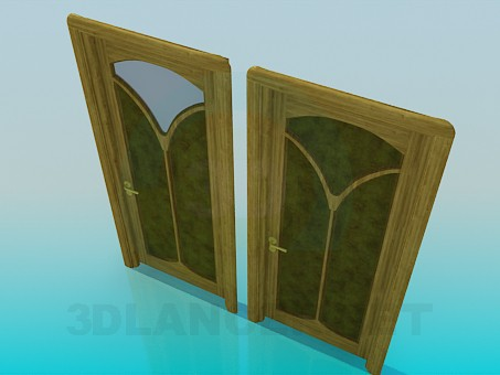 3d modeling Door with ornaments model free download
