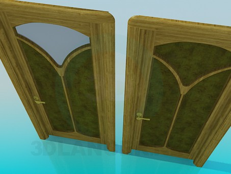 3d model Door with ornaments - preview