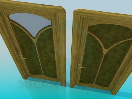 3d модель Двери с орнаментом – превью