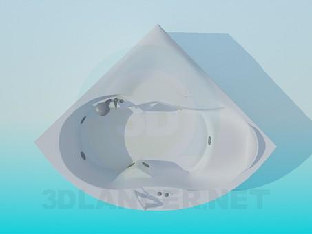 3d modeling Corner bath model free download