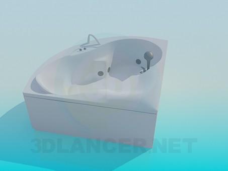 3d модель Кутова ванна – превью