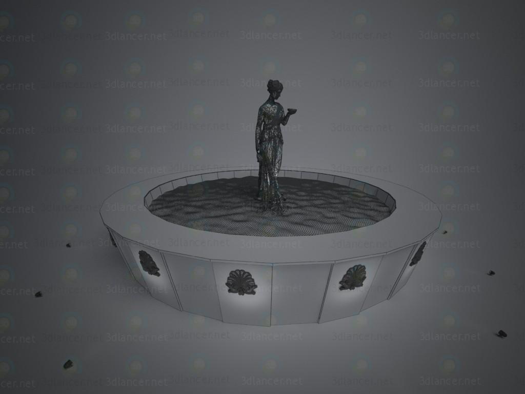 Fuente 3D modelo Compro - render