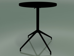 Tavolo rotondo 5709, 5726 (H 74 - Ø59 cm, aperto, Nero, V39)