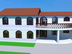 Casa con balcones