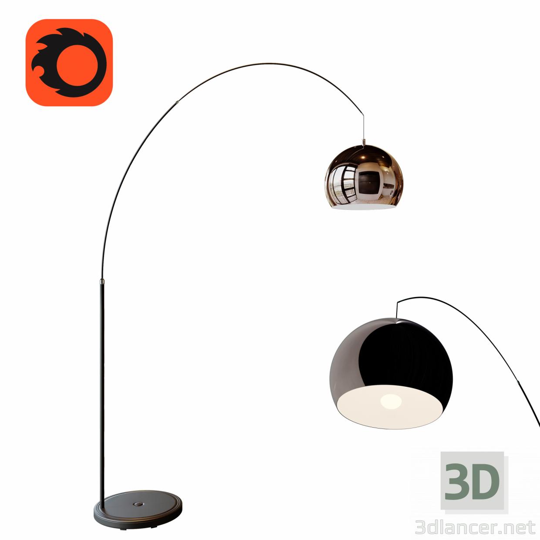 3d Floor Lamp model buy - render