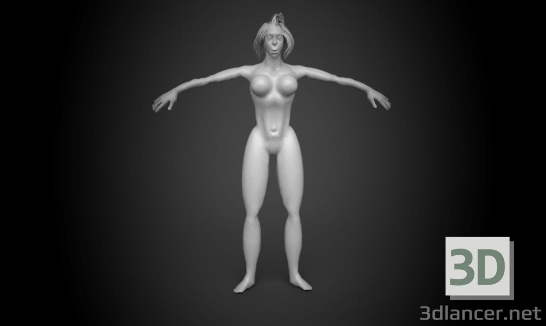 3d Young Female model buy - render